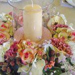 Centro tavola romantico per matrimonio